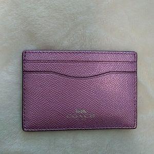 Coach Leather Cardholder Case Wallet